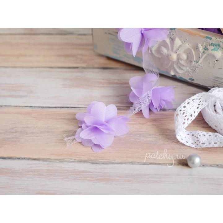 Шифоновый цветочек (сиреневый)