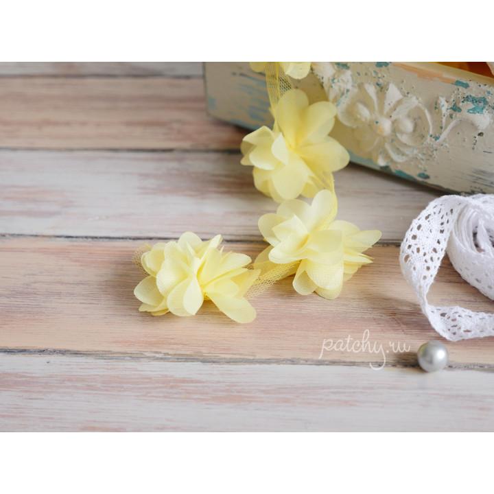 Шифоновый цветочек (желтый)