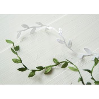 Лента листики (зеленая)